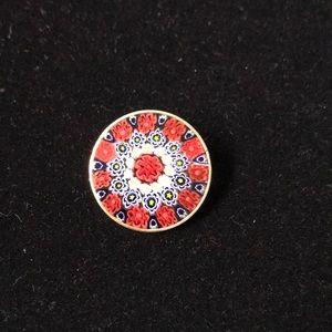 Jewelry - Multi-Wild Flower Millefiori Glass Pin